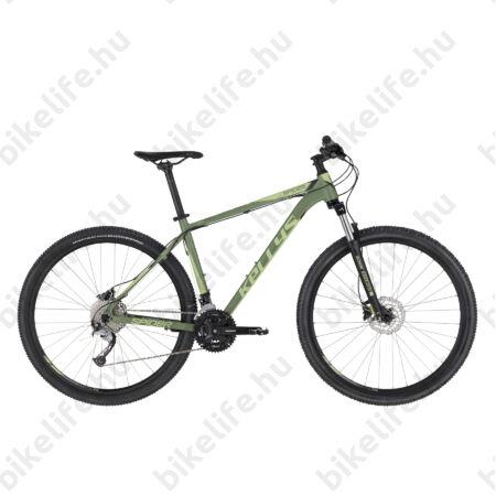 """Kellys Spider 50 Sage Green 29""""-os MTB kerékpár 3x9 fok. Shimano Acera váltó, DISC, M/19,5"""""""