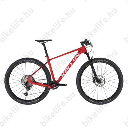 """Kellys Hacker 70 Red/White Carbon 29""""-os MTB kerékpár, 1x12 fokozatú Deore XT váltó, Rock Shox tel. M"""