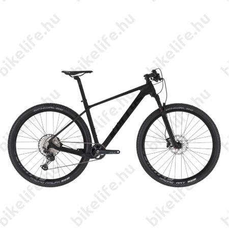 """Kellys Hacker 50 Black 29""""-os MTB kerékpár, Carbon váz, 1x12 fokozatú Deore XT váltó, Rock Shox tel. M"""