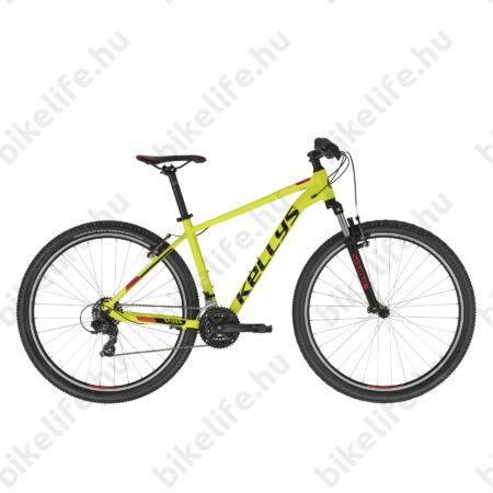 """Kellys Spider 10 Neon Yellow 29"""" MTB kerékpár 21 fokozatú TY300 váltó, V-fék, SR villa, M/19,5"""""""