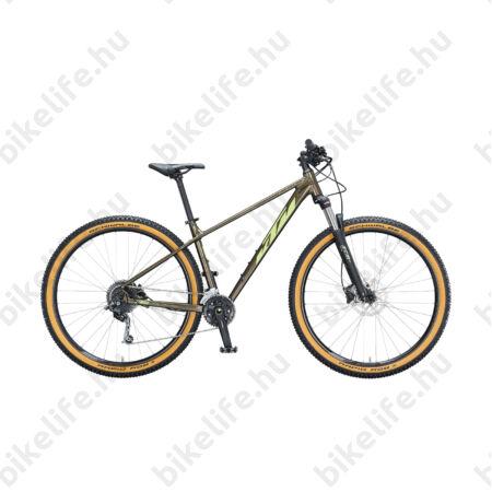 """KTM Ultra Gloriette 29""""-os MTB kerékpár 18 fokozatú Shimano Deore váltó, hidraulikus tárcsafék, tölgy, M/43cm"""