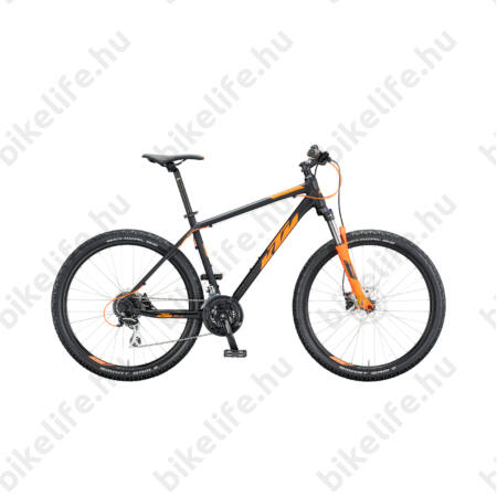 """KTM Chicago 2018 27,5""""-os MTB kerékpár 24sebességes Acera váltó, hidr.tárcsa,matt narancs/fekete 19"""""""