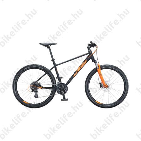 """KTM Chicago 27,5""""-os MTB kerékpár 24 fokozatú Altus váltó, hidraulikus tárcsa, mattfekete/narancs 15"""""""