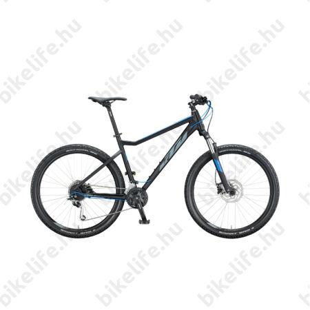 """KTM Ultra Fun 27,5""""-os MTB kerékpár 27 fokozatú Shimano Deore XT, hidraulikus tárcsafék, matt fekete/kék 19"""""""