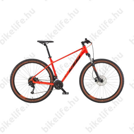 """KTM Chicago 27,5""""-os MTB kerékpár 2x9 fokozatú Altus váltó, hidraulikus tárcsa, fire orange 17"""""""