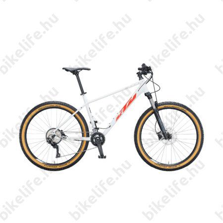 """KTM Ultra Flite 27,5""""-os MTB kerékpár 20 fokozatú Deore váltó, hidr. tárcsafék, fehér (fekete/narancs) 19"""""""