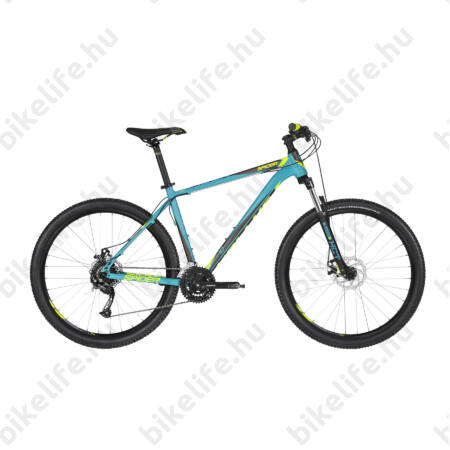 """Kellys Spider 10 2019 27,5""""-os MTB kerékpár 24fok. Shimano Acera váltó, mech.tárcsafék, Türkiz 19,5"""""""