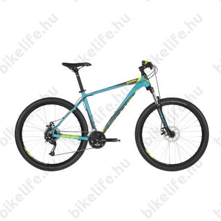 """Kellys Spider 10 2019 27,5""""-os MTB kerékpár 24fok. Shimano Acera váltó, mech.tárcsafék, Türkiz 17,5"""""""
