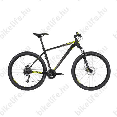 """Kellys Spider 30 2019 27,5""""-os MTB kerékpár 24fok. Shimano Acera váltó, tárcsafék, Black 17,5"""""""