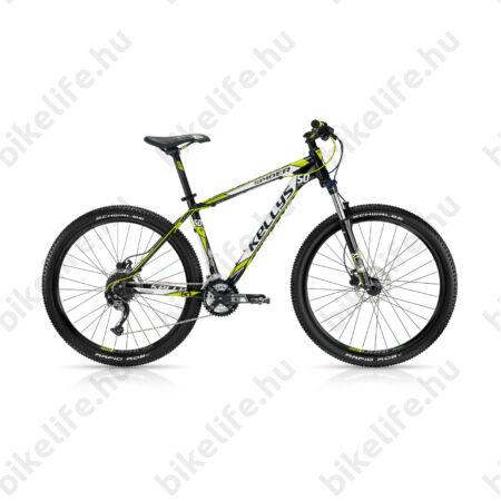 """Kellys Spider 50 2016 27,5""""-os MTB kerékpár 27s. Alivi váltó, Tektro hidr. tárcsa, Black Toxic 21,5"""""""