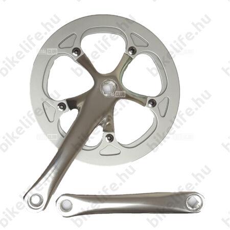 """Prowheel szimpla hajtómű acél nadrágszárvédővel, 46fogú, alu kar 170mm 3/32"""" (keskeny lánchoz)"""