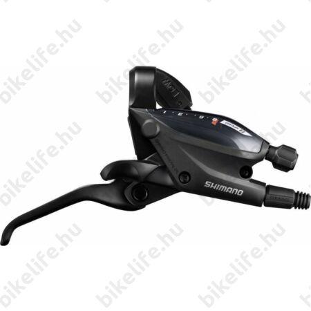 Váltó/fékkar Altus EF505-9 jobb 9-es fekete 3 ujjas, hidraulikus fékhez.