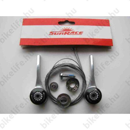 Váltókar Sunrace SLR30 alsócsőre, bal frikciós/jobb 7 sebességes, konzolos felfogatású