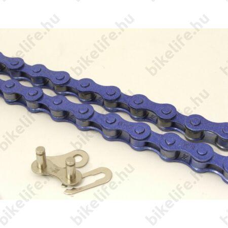 """KMC Z410 lánc+patentszem 1 sebességes kerékpárhoz 1/2""""x1/8"""", kék"""