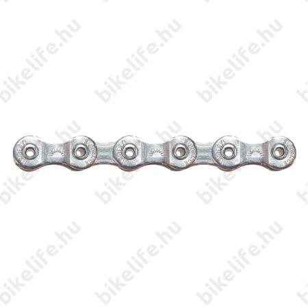 Sunrace CNM89 8 sebességes lánc, ezüst, üreges csapos