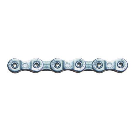Sunrace CNM99 9 sebességes lánc, ezüst, üreges csapos, 256gramm