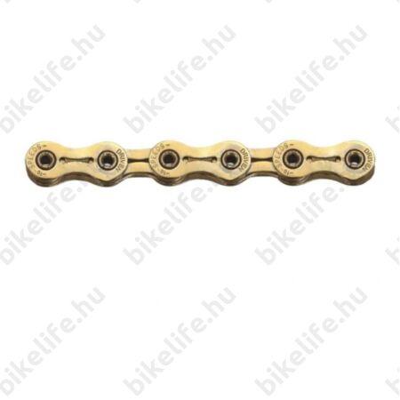 Sunrace CNR1Z 10 sebességes lánc,TiNi kopásálló bevonat, üreges csapos, könnyített láncszemek, arany