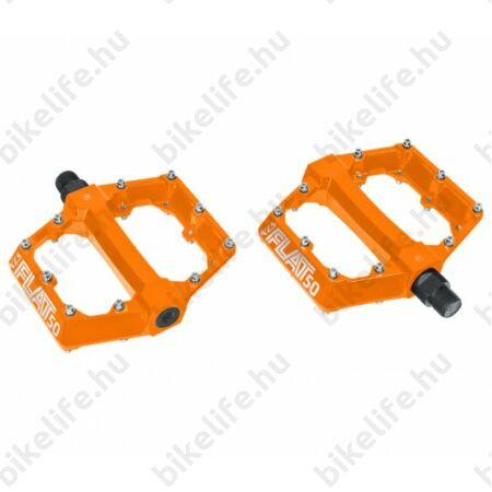 Kellys FLAT 50 BB pedál, platform, golyós csapágy, cserélhető szegecsek, narancssárga
