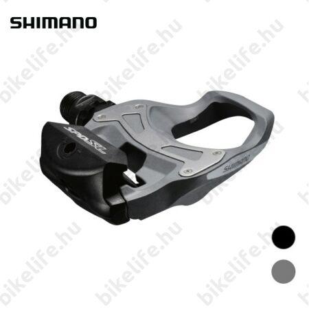Shimano PD-R550 SPD-SL rendszerű patentpedál (szérián kívüli 105-ös szintű) kompozit test, ezüst