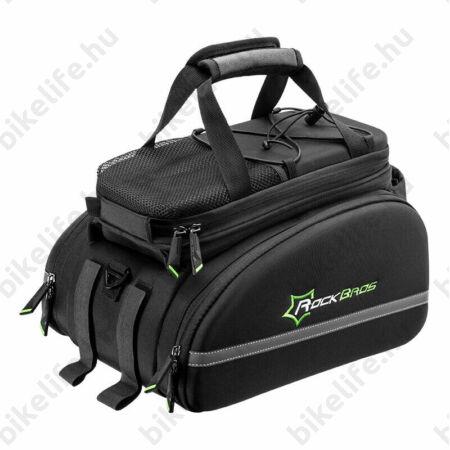 Rockbros bővíthető kerékpártáska csomagtartóra 10-től 35 literig