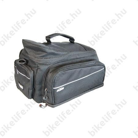 KTM Trunk Bag Plus Racktime táska csomagtartóra, 13 liter maximális űrtartalom, fekete