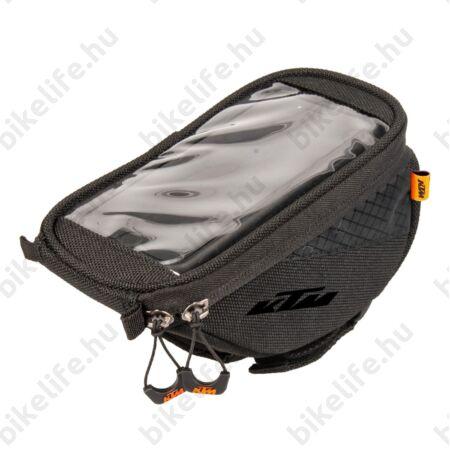 KTM Phone mobiltelefontartó táska kormányra, tépőzáras, 1L kapacitás, érintőképernyő kompatibilis