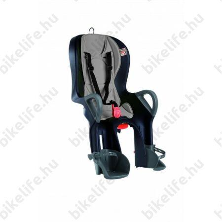 Kerékpár gyerekülés OkBaby 10+ vázra rögzíthető, dönthető, fekete, szürke párnával