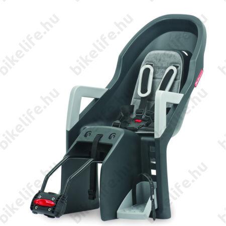 Polisport Guppy RS dönthető gyerekülés hátsó, vázra szerelhető, sötétszürke/ezüst
