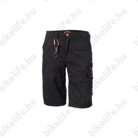 KTM Factory Team szabadidő rövid nadrág, sok zsebbel, betétes rész nélkül, fekete XXL