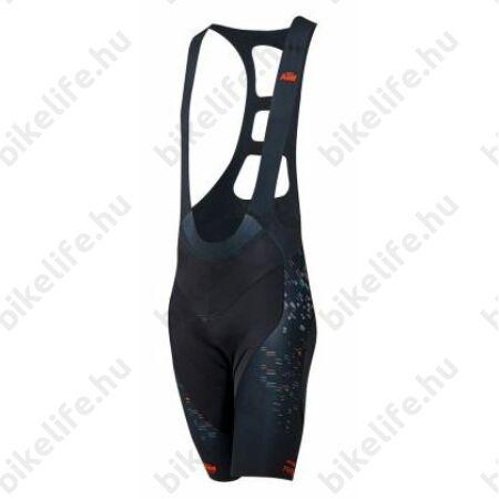 KTM Factory Prime rövid nadrág, betétes-kantáros, fekete/narancs XL
