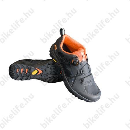 Cipő MTB KTM Factory Enduro fekete, damilos rögzítés, Vibram-talp, 42-es
