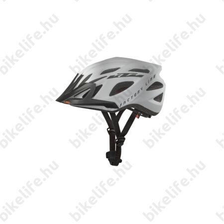 KTM Factory Line kerékpáros bukósisak mattfekete/fehér 58-62cm