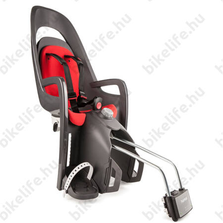 Hamax Caress gyerekülés hátsó vázra 22kg-ig terhelhető, szürke/piros