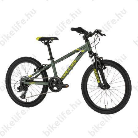 """Kellys Lumi 50 Green 20""""-os gyerekkerékpár alumínium váz, teleszkóp, 7fok Shimano TY300 váltó"""