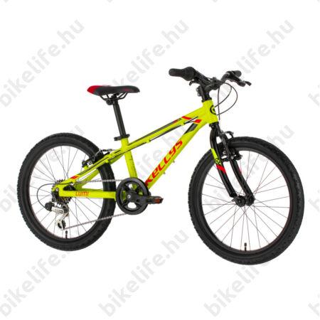 """Kellys Lumi 30 Yellow 20""""-os gyerekkerékpár aluminium váz, 6 fokozatú Shimano TY21 váltó"""