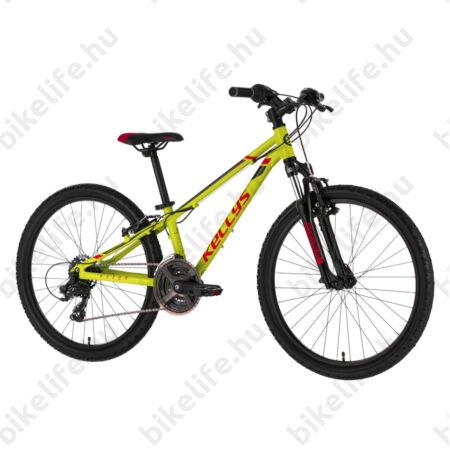 """Kellys Kiter 50 Yellow 24""""-os gyerekkerékpár 21 fokozatú Shimano TY300 váltó, alumínium váz, V-fék"""