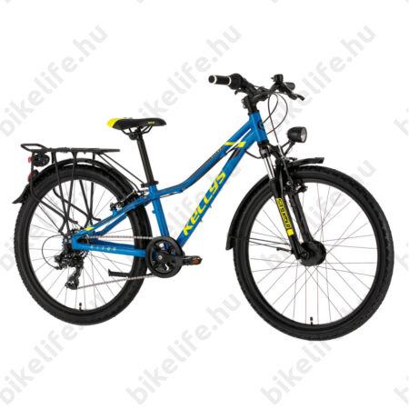 """Kellys Kiter 70 Blue 24""""-os gyerekkerékpár 21 fokozatú Shimano TX35 váltó, alu. váz, teleszkóp, V-fék"""