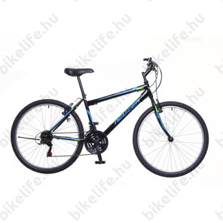 """Neuzer Nelson férfi MTB kerékpár 18sebességes, fekete/kék 15"""""""