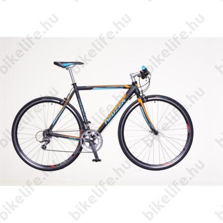 Neuzer Courier RS fitness kerékpár 18 fokozatú Shimano 105 váltórendszer, fekete/cián/narancs 58cm
