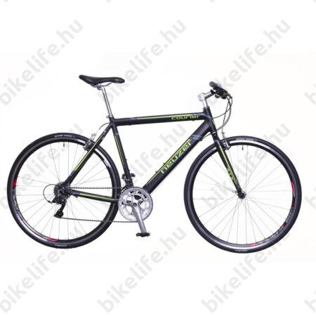 Neuzer Courier DT fitness kerékpár 16 fokozatú Shimano Claris váltó, fekete/zöld-szürke, 58cm