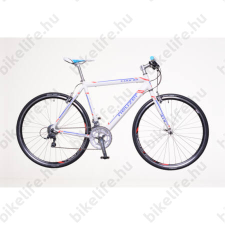 Neuzer Courier DT fitness kerékpár 16 fokozatú Shimano Claris váltó, fehér/kék-piros, 48cm
