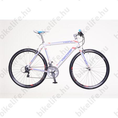 Neuzer Courier DT fitness kerékpár 16 fokozatú Shimano Claris váltó, fehér/kék-piros, 58cm