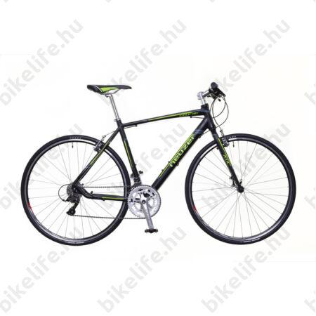 Neuzer Courier DT fitness kerékpár 16 fokozatú Shimano Claris váltó, fekete/zöld-szürke matt, 46cm