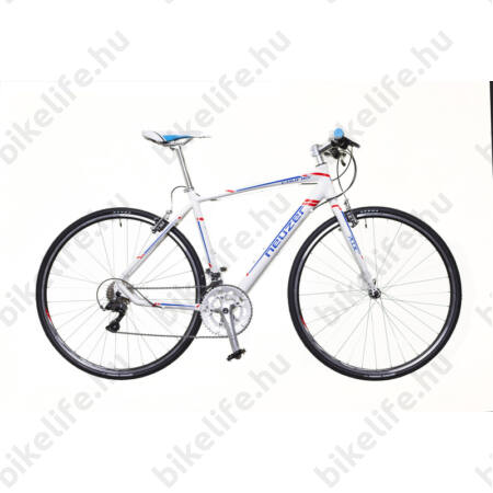 Neuzer Courier DT fitness kerékpár 16 fokozatú Shimano Claris váltó, fehér/kék-piros matt, 50cm