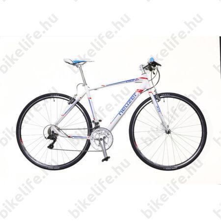 Neuzer Courier DT fitness kerékpár 16 fokozatú Shimano Claris váltó, fehér/kék-piros matt, 52cm