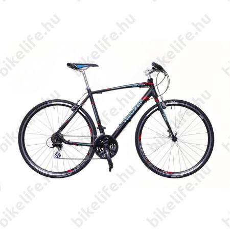 Neuzer Courier fitness kerékpár 21 fokozatú Shimano Acera váltórendszer, fekete/türkiz-piros matt 50cm