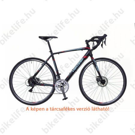Neuzer Courier CX ciklokrossz kerékpár Claris fekete/türkiz-piros matt 62cm