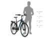 """Kellys Carson 30 Blue férfi trekking kerékpár 24 fokozatú Shimano Altus váltó, V-fék, S/17"""""""